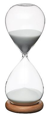 KC Natural Elements Traditional Glass Sand Timer NEHOUR