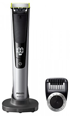 Philips OneBlade Pro Hybrid Trimmer & Shaver with 14-Length Comb (UK 2-Pin Bath