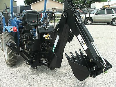 3 Three point Backhoe 7600, 8-foot excavator with free PTO PUMP & shipping