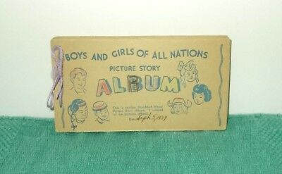Vintage '39 Shredded Wheat Picture Story Album-Boys & Girls All Nations-Circus