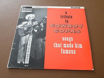 A Tribute To Cowboy Copas - Songs That Made Him Famous Lp Uk Stateside 1962