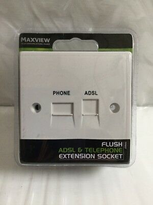 MAXVIEW TP907 FLUSH ADSL PRE-FILTERED EXTENSION TELEPHONE SOCKET 85mm