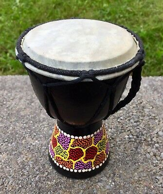 Djembe Small Percussion Hand Drum Painted Design!