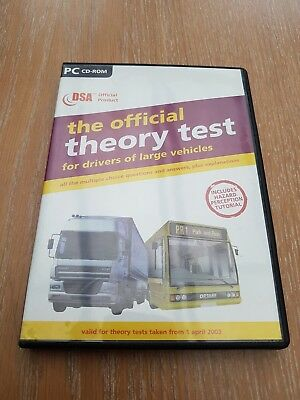 DSA the official theory test for large vehicles pc cd rom