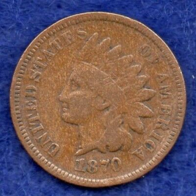 USA, 1870 Indian Head Cent, Rare Date (Ref. c3463)