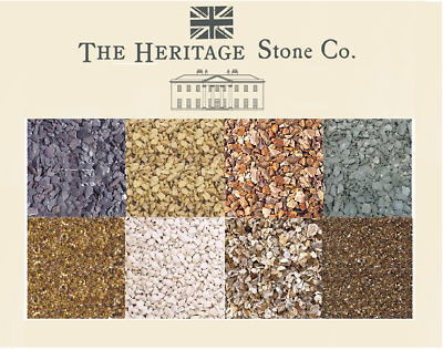 Various Decorative Garden Aggregate Stones Chips Slate White Brown Yellow 25kg