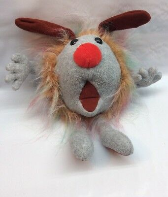 """VtG 1995 Big Comfy Couch FUZZY Dust Bunny 10"""" Plush Toy *RARE* Q4"""