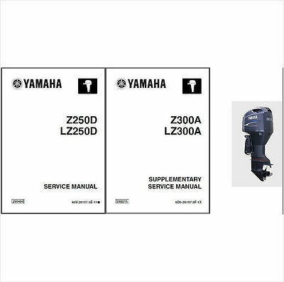 Yamaha Z300 LZ300 300 HP 2-Stroke Outboard Motor Service Repair Manual CD Z300A