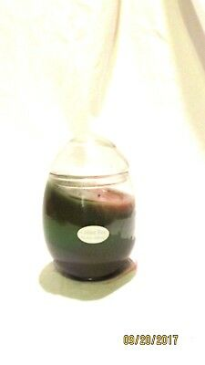 Home Interiors Scented Creme Egg Glass Candle Jar Scented
