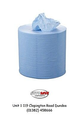 ESSENTIALS 2 Ply Blue Centrefeed Roll - 120m x 190mm - Pack of 6 - C2B129E