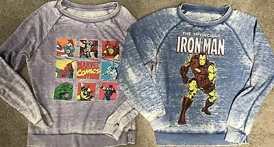 Marvel Comics Women's Crew sweatshirts Size M / Large Lot Of 2
