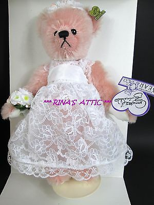 "Annette Funicello 9"" MARY Pink Mohair Bride Bear Wedding Collection White Gown"