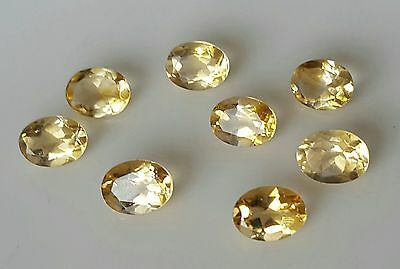 WaterfallGems 8pcs Citrine Ovals, 8x6mm, 8.70ct