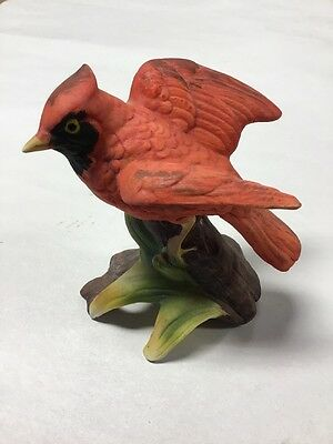 Vintage PORCELAIN CARDINAL Bird Figurine Made in Japan Great Cond