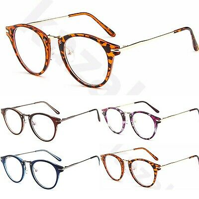 Womens Fashion Oval Clear Lens Glasses