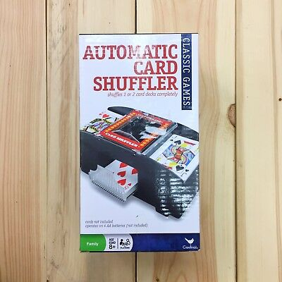 Automatic Card Shuffler Cardinal Two Deck Playing Card Shuffler NIB Battery