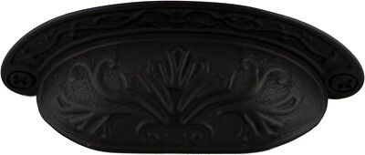 Oil Rubbed Bronze Baroque Scroll work BIN PULL ~ CABINET DRAWER HANDLE ~ by PLD