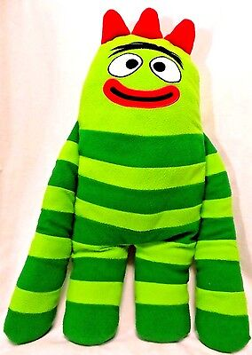 "Brobee Plush JUMBO Fleece Cuddle Pillow Buddy Doll YO GABBA  24"" TALL Nick Jr."