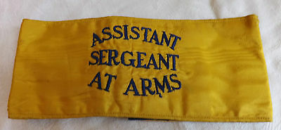 An Original Military WWI/II Assistant Sergeant At Arms Yellow Armband (2245)