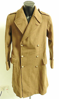 Military WW1/2 Royal Artillery Indian Army Officers Greatcoat Uniform (3637