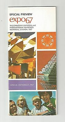 Special Preview Expo 67 Montreal Quebec Canada Map Tourist Information Brochure