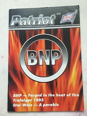 Patriot - British National Party BNP Glossy magazine Issue 8 Summer 2001