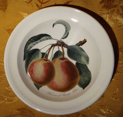 "Portmeirion *pomona* Rimmed Cereal Bowl Princess Of Orange Pear 6 3/4"" Britain"
