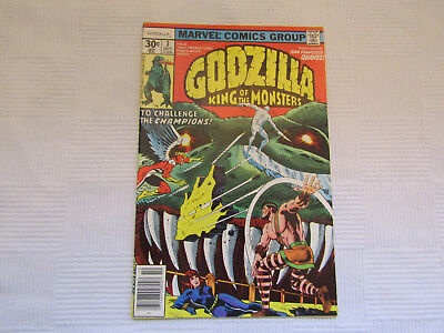 Godzilla - King of the Monsters #3 - Marvel Bronze Age 1977