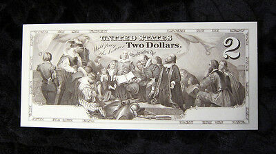 Proposed $2 Two Dollars Intaglio Impression Embarkation of the Pilgrims