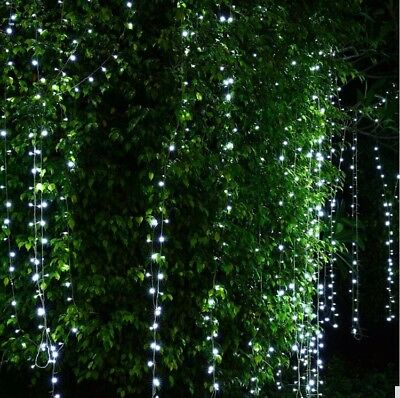 3M 300LED Connectable Fairy String Icicle Curtain Light Wedding Xmas Christmas