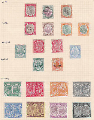 Commonwealth. West Indies. St  Kitts-Nevis1903 -1923 issues. TWO PAGES