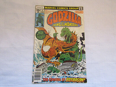Godzilla - King of the Monsters #4 - Marvel Bronze Age 1977