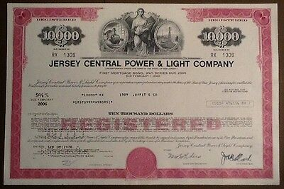 HWP - 9 5/8% Jersey Central Power and Light Company,  (10.000 $) 1976
