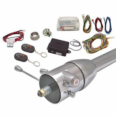 White One Touch Engine Start Kit w Column Insert and Remote