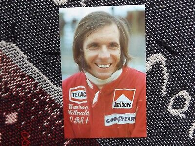 Motorsport Postcard - Emerson Fittipaldi - Grand Prix Driver