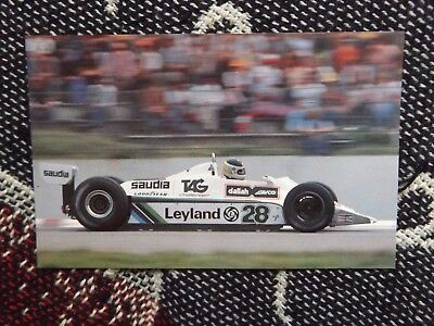 Motorsport Postcard - Carlos Reutemann Williams Fw07B Hockenheim 1980