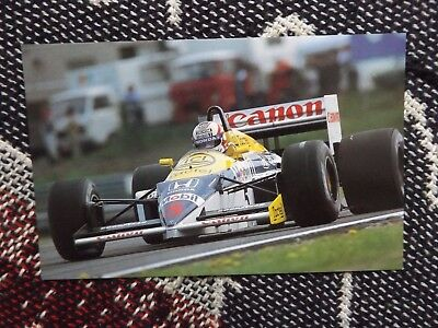 Motorsport Postcard - Nigel Mansell Williams Fw11 Imola 1986