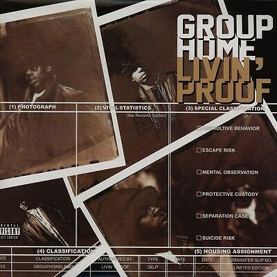 "Group Home "" Livin Proof "" 3 X Lp Set 25 Tracks *** Coloured Vinyl ***"