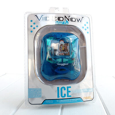Video Now Color FX Personal Video Player Ice Blue Tiger Electronics New Portable