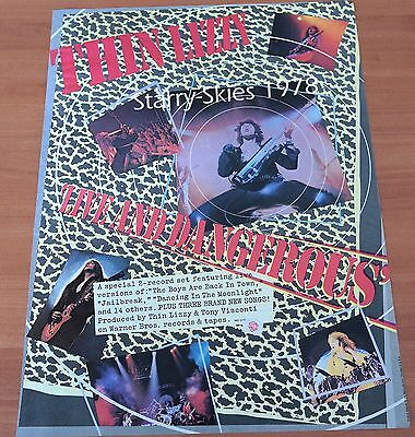 Thin Lizzy Live And Dangerous 1978 Vintage Promo Ad