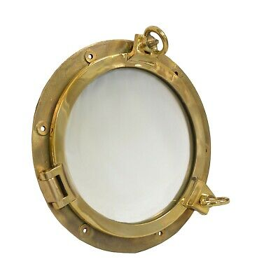 "16.5"" Solid Brass Porthole Window Nautical Ship Glass Wall Door Home Decor Ports"