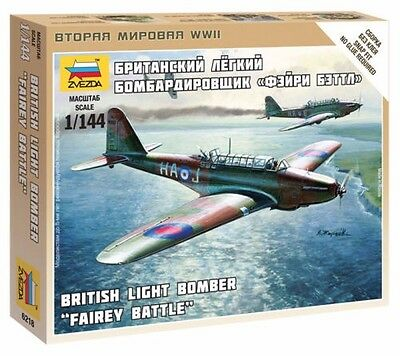Zvezda #6218  -  1:144 British Light Bomber Fairey Battle   WWII