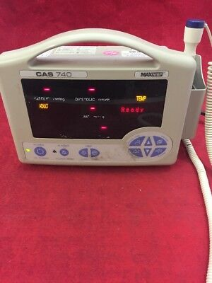 CAS 740 Bedside Patient Monitor w/Thermometer Probe Type 3 See Listing
