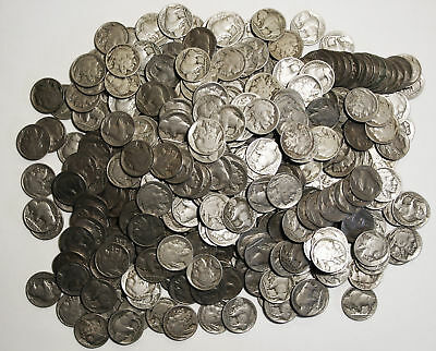5 Coin Buffalo Nickel Lot , Assorted Dates , Circulated, Choose How Many!