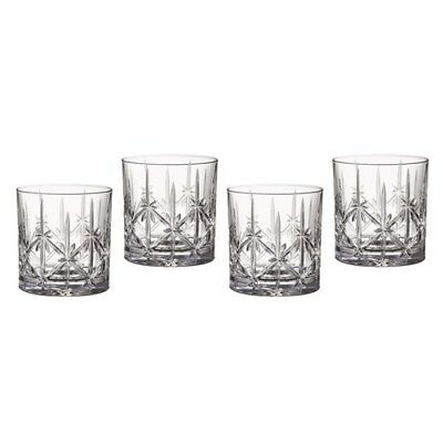 New Waterford Marquis Sparkle Tumbler Glass Set of 4