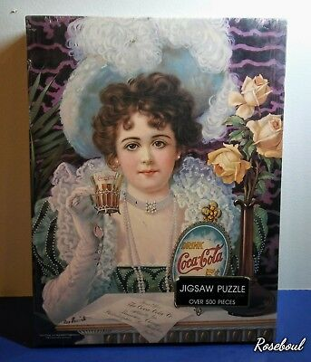 Sealed SPRINGBOX COCA-COLA PUZZLE (AN OLD-FASHIONED GIRL) 500 PCS PZL 4114