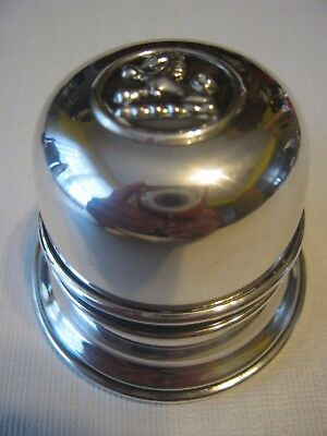 Vintage 1950's Birks Lion Dome Bell Ring Regency Plated Silver Box