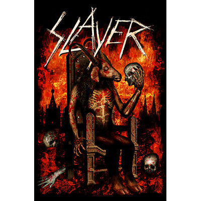 Official Textile Poster SLAYER- DEVIL ON THRONE Licensed Merch Flag 105cm X 65cm