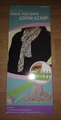 New Boxed Knitting Loom Kit MAKE YOUR OWN SCARF Craft Christmas Gift