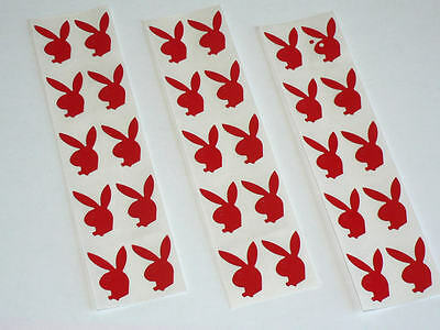 Brand New 30 Sexy Red  Bunny Sticker Tanning Hot